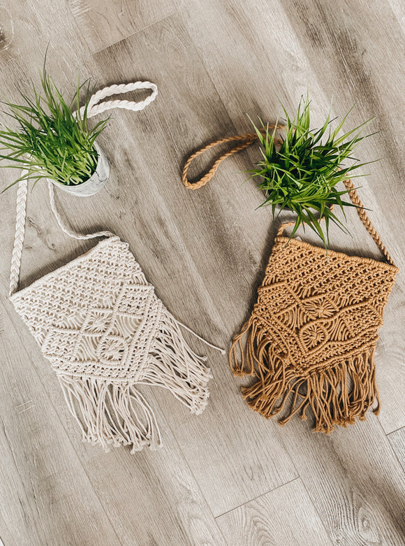 Fringe Macrame Cross Body