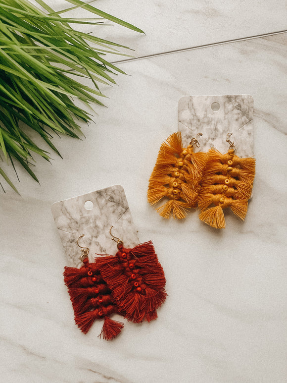 Fall Vibes Fringe Earrings