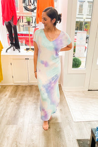 Purple & Mint Tie Dye Maxi