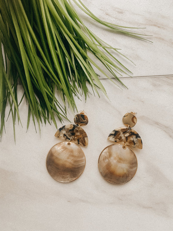 Sea me by the Shore Round Earrings