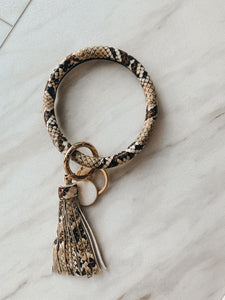 Animal Print Key Chain Bangle