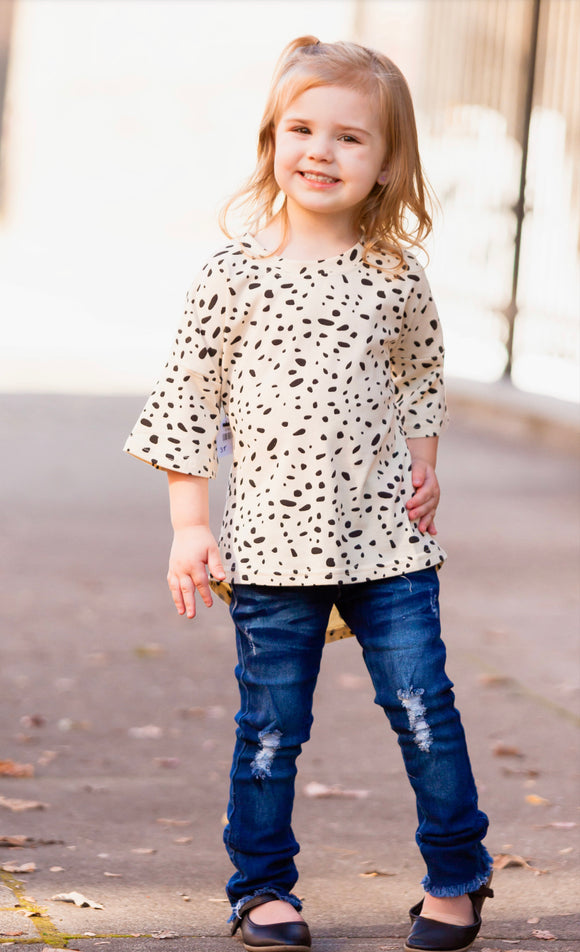 Baby/Toddler High Low Leopard Top