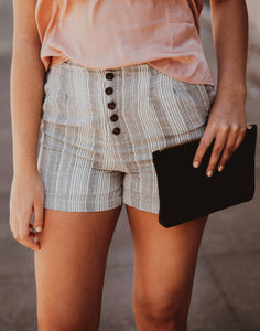High Waisted Striped Shorties