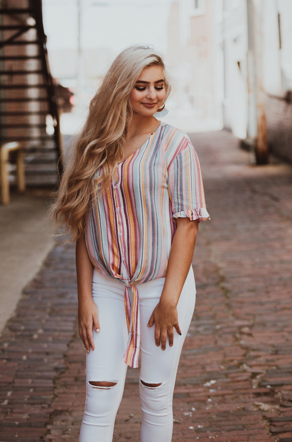 Summer Vibes Striped Top
