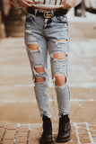 Audrey Super High Rise Distressed KanCan Denim