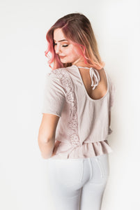 Lilac Lace Detail Top-One Left (LG)