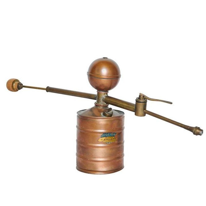 19th Century, French Copper and French Oak Atomiser, with Original Makers Label
