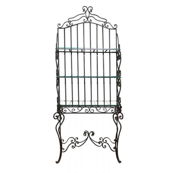 French Boulangerie Iron Scroll Rack