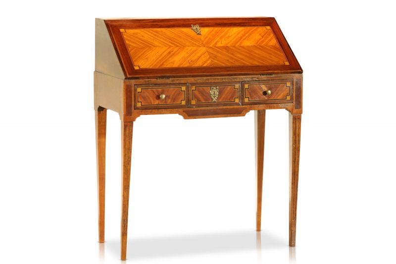 C. 1700 French Louis XVI Bureau with Marquetry