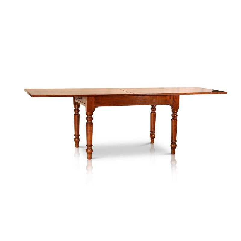 Circa 1850, Italian Chestnut Extendable Table