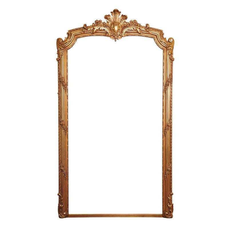 20th Century, French Louis XV Grand Gilt Mirror