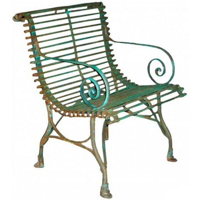 France Scrolled Garden Arm Chairs