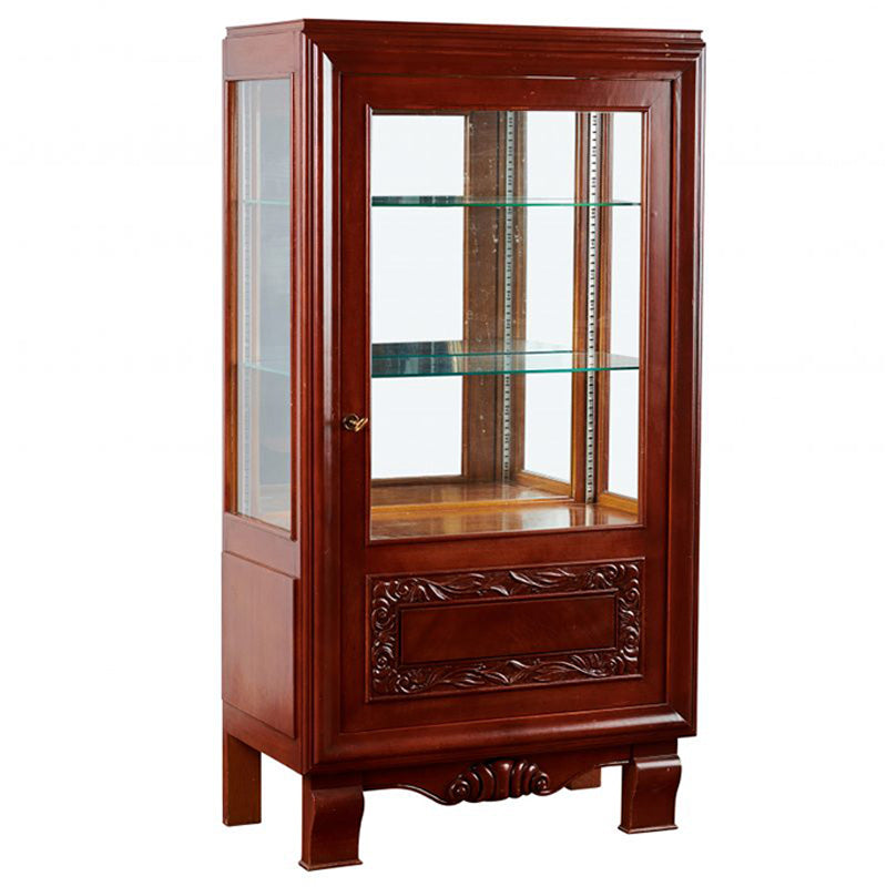 Carved French Oak Vitrine