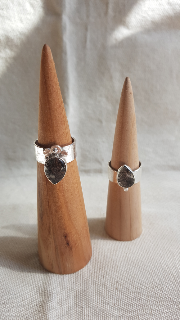 Tourmilated Quartz Sterling Silver Ring