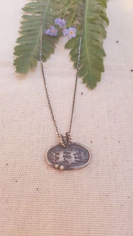 Sterling Silver Forest Pendant Necklace