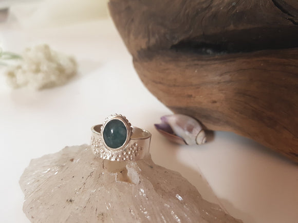 Jade Water Facets Ring