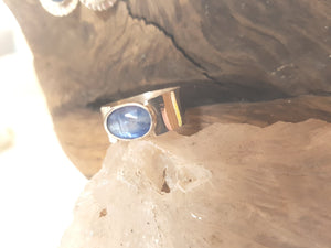 Faceted Blue Kyanite Ring
