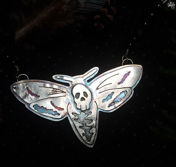 Sterling Silver Death's-Heah Hawkmoth Amulet