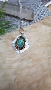 Faceted Labradorite Sterling Silver Pendant and Chain