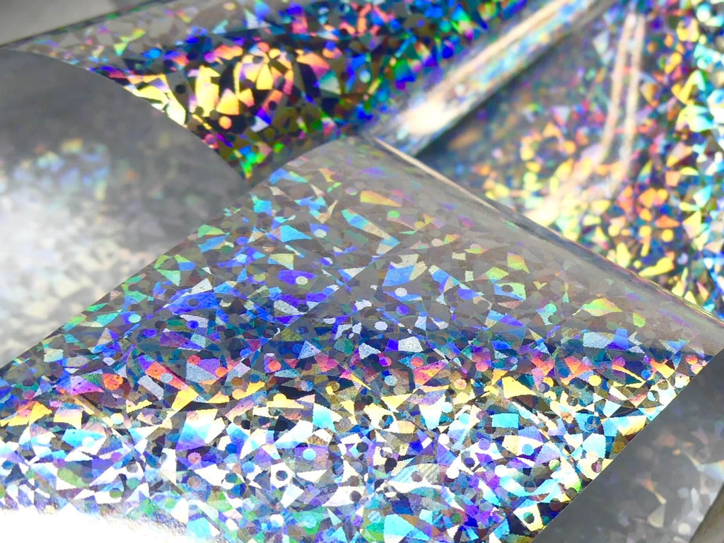 "Transfer Foil - Silver Holo Micro  (48"") - My Little Nail Art Shop"