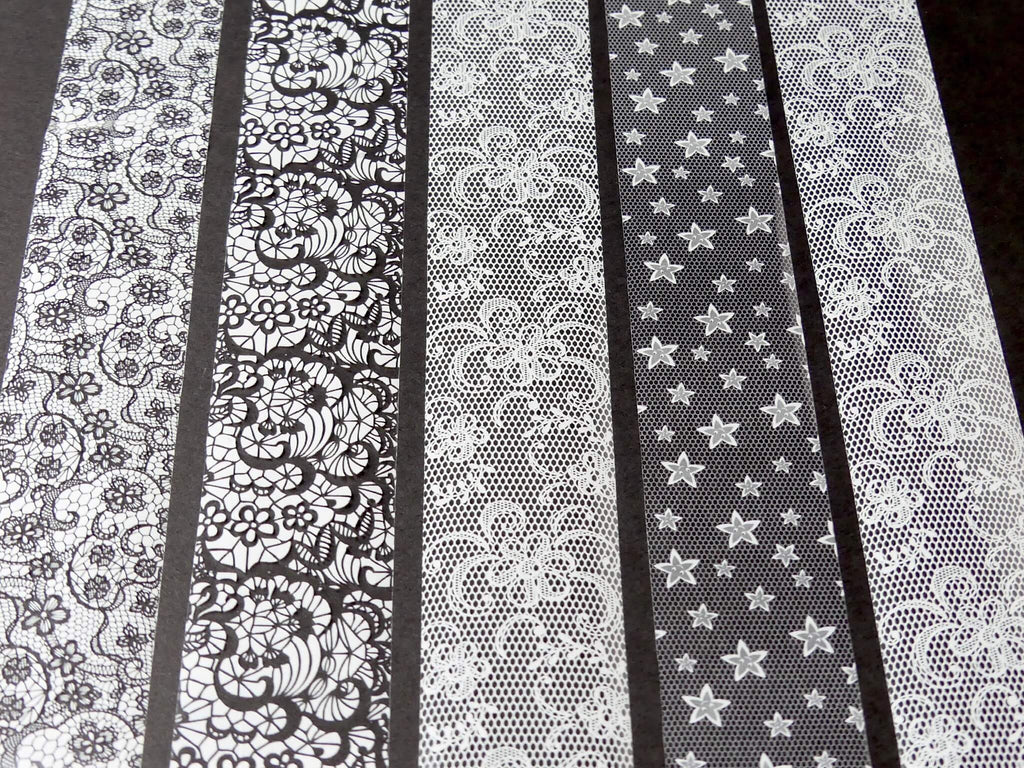 Transfer Foil White Lace - Box Set of 10 - My Little Nail Art Shop