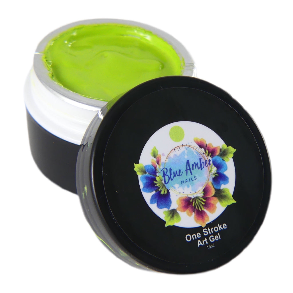 One Stroke Art Gel - Green  15ml - My Little Nail Art Shop