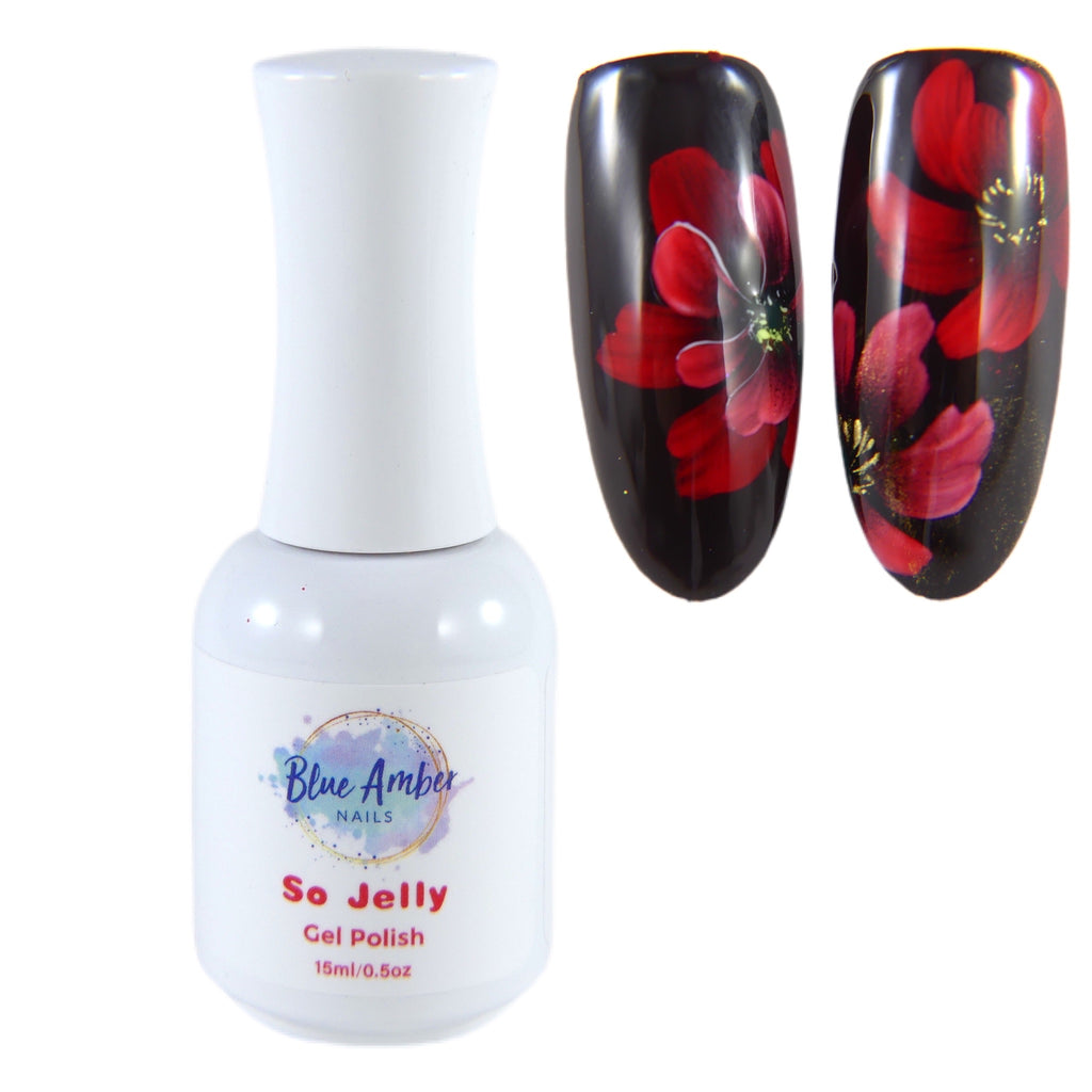 So Jelly Gel Polish - Red - My Little Nail Art Shop