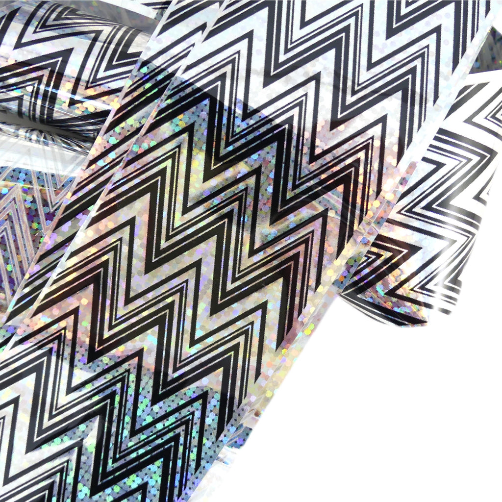 "Transfer Foil - Holographic Zig Zag  (48"") - My Little Nail Art Shop"