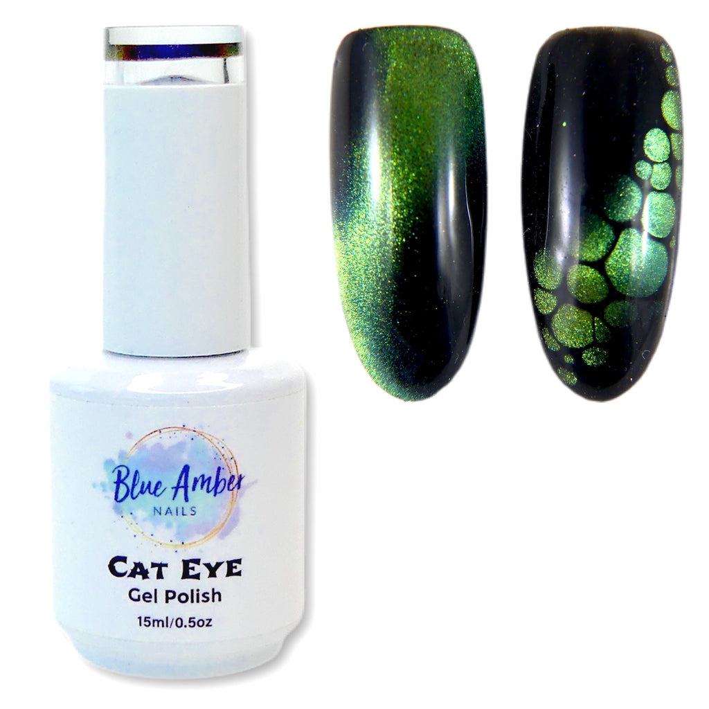 Cat Eye Gel Polish - Green - My Little Nail Art Shop