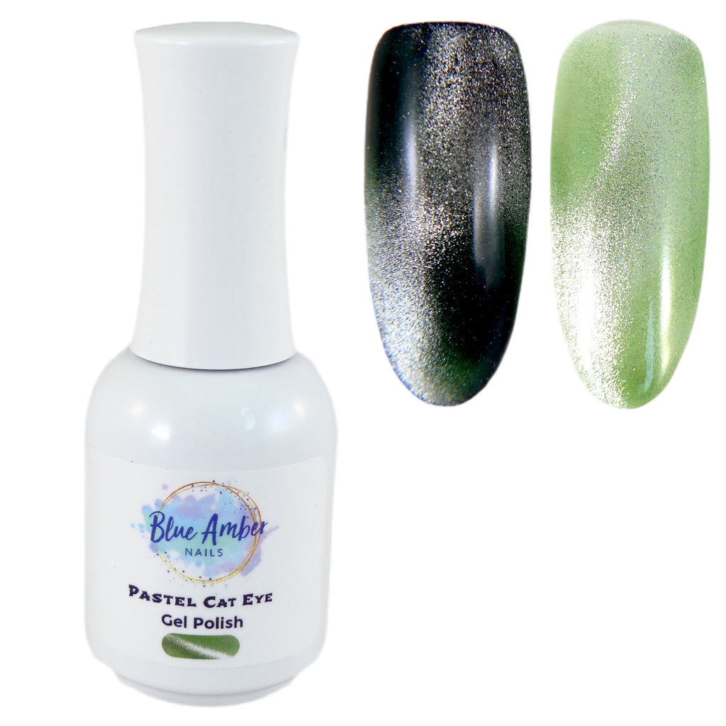 Pastel Cat Eye Gel Polish - Green - My Little Nail Art Shop