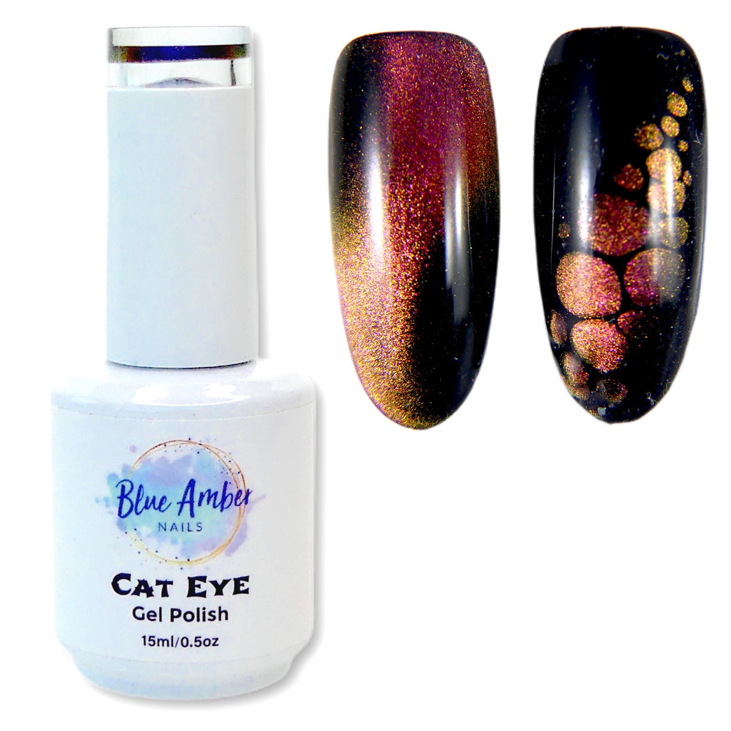 Cat Eye Gel Polish - Coral Pink - My Little Nail Art Shop