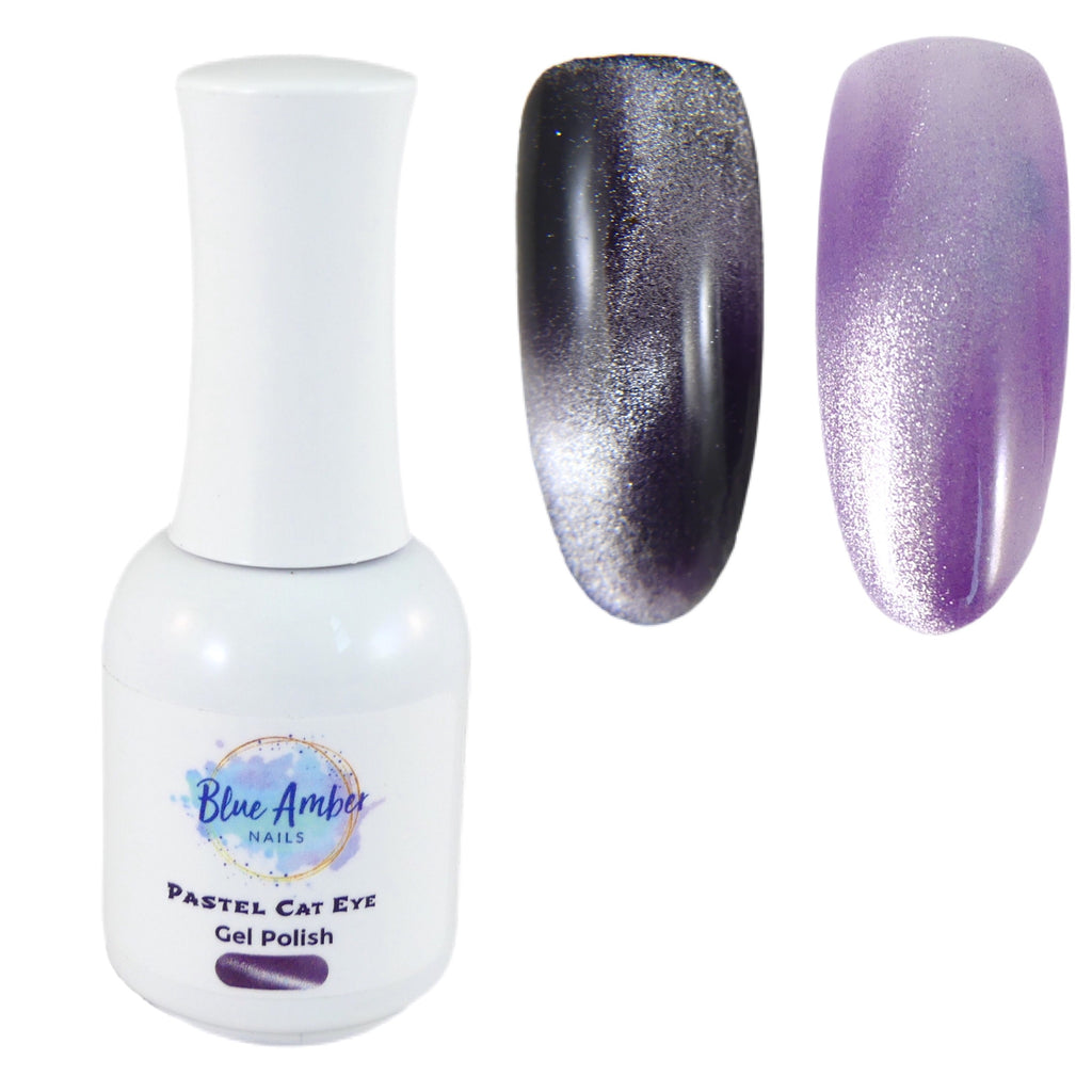 Pastel Cat Eye Gel Polish - Lavender - My Little Nail Art Shop