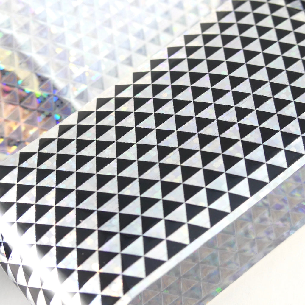 "Transfer Foil - Holographic Triangles  (48"") - My Little Nail Art Shop"