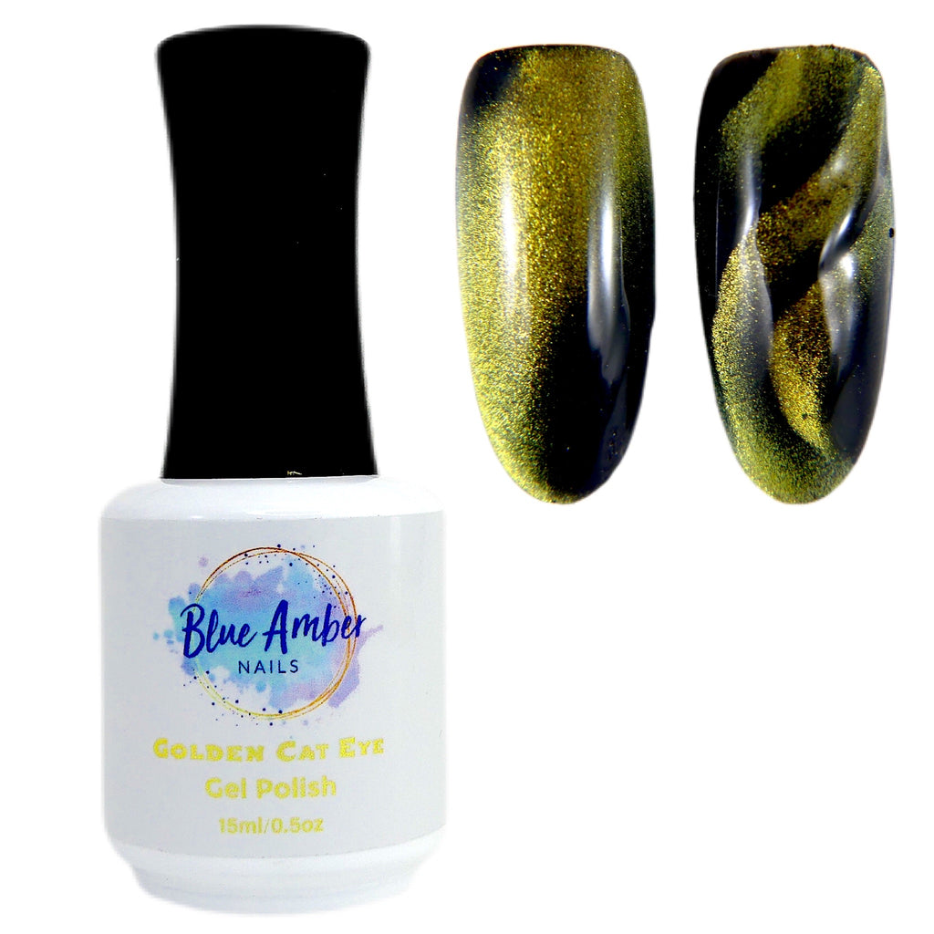 Golden Cat Eye - Gel Polish - My Little Nail Art Shop