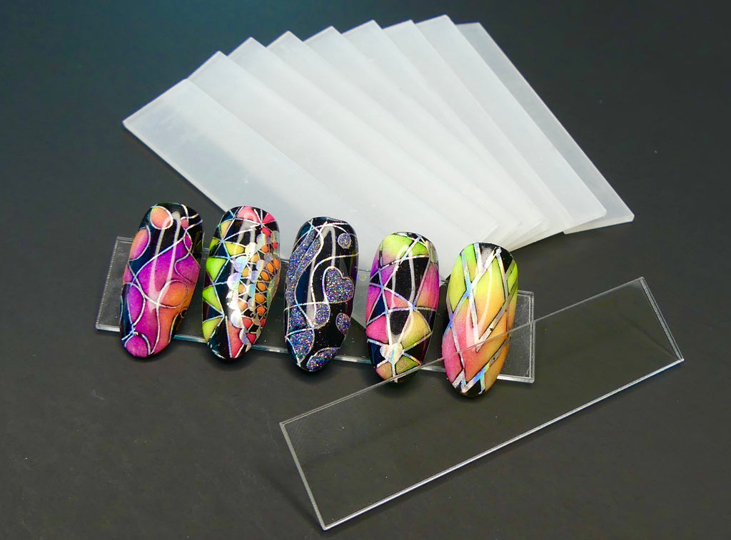 Clear Display Bars for Nail Art   10 ct - My Little Nail Art Shop