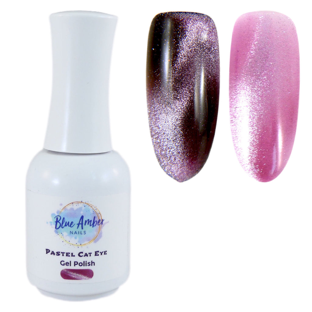 Pastel Cat Eye Gel Polish - Pink - My Little Nail Art Shop