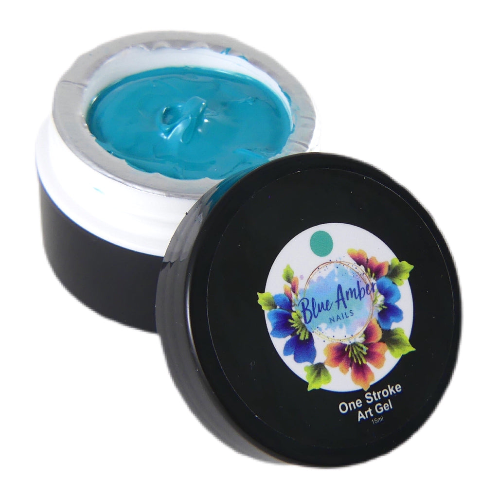 One Stroke Art Gel - Blue  15ml - My Little Nail Art Shop