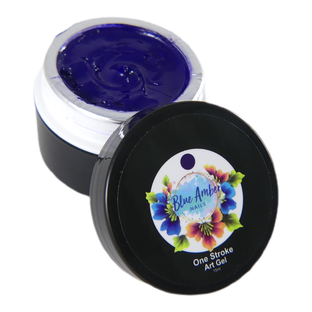 One Stroke Art Gel - Navy Blue  15ml - My Little Nail Art Shop
