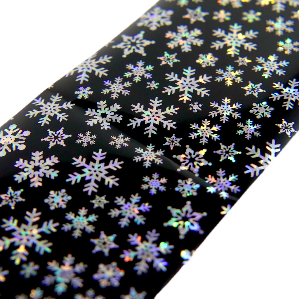 "Transfer Foil Holographic Snowflakes (38"") - My Little Nail Art Shop"