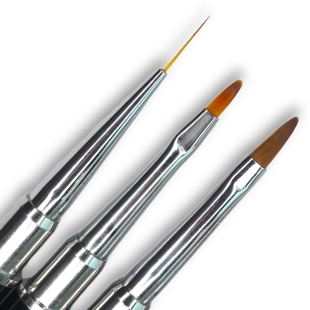 Gel Nail Art Brushes - Bundle of 3 - My Little Nail Art Shop