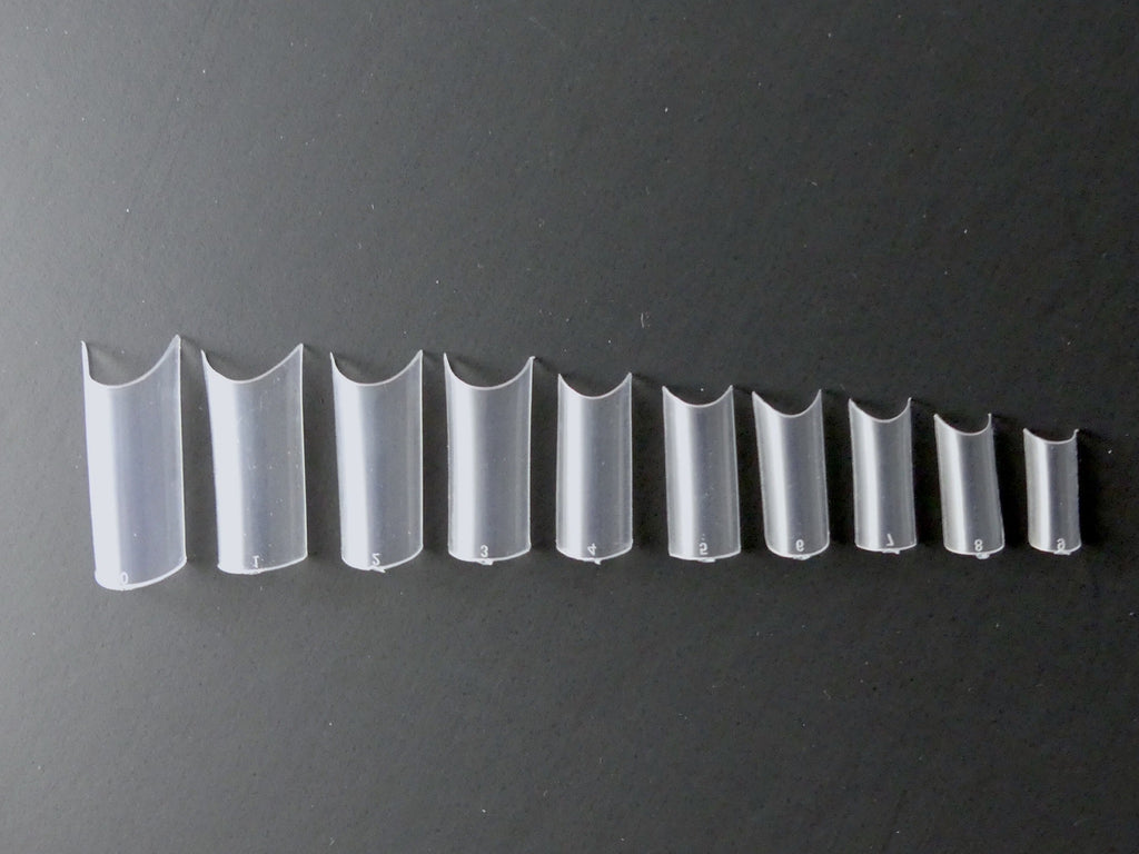Charisma Nail C-Curve Square Clear Tips, 500ct / 10 sizes - My Little Nail Art Shop