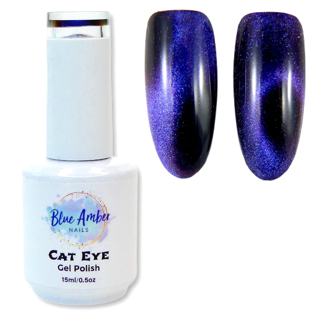 Cat Eye Gel Polish - Blue - My Little Nail Art Shop