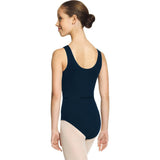 Pinch Front Tank Style Microfiber Leotard for Kids (3546C)