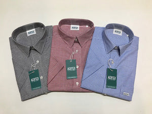 Aertex Pure Cotton Houndstooth Shirt