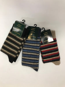 Lothlorian Women's Possum Merino Multi Striped Sock