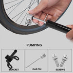 Mini Bicycle Pump Portable Light Aluminum Alloy Bike Pump Air Pump Mountain Cycling Tire Gas Needle Inflator