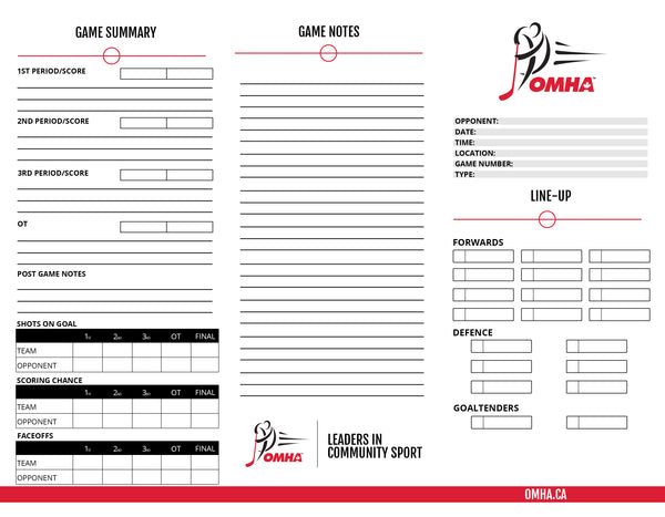 OMHA Game Cards
