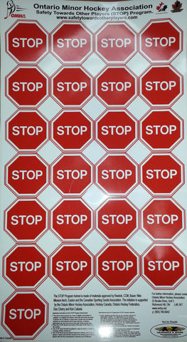 Stop Helmet Decal