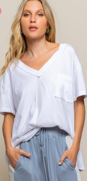 White Loose Fit Top