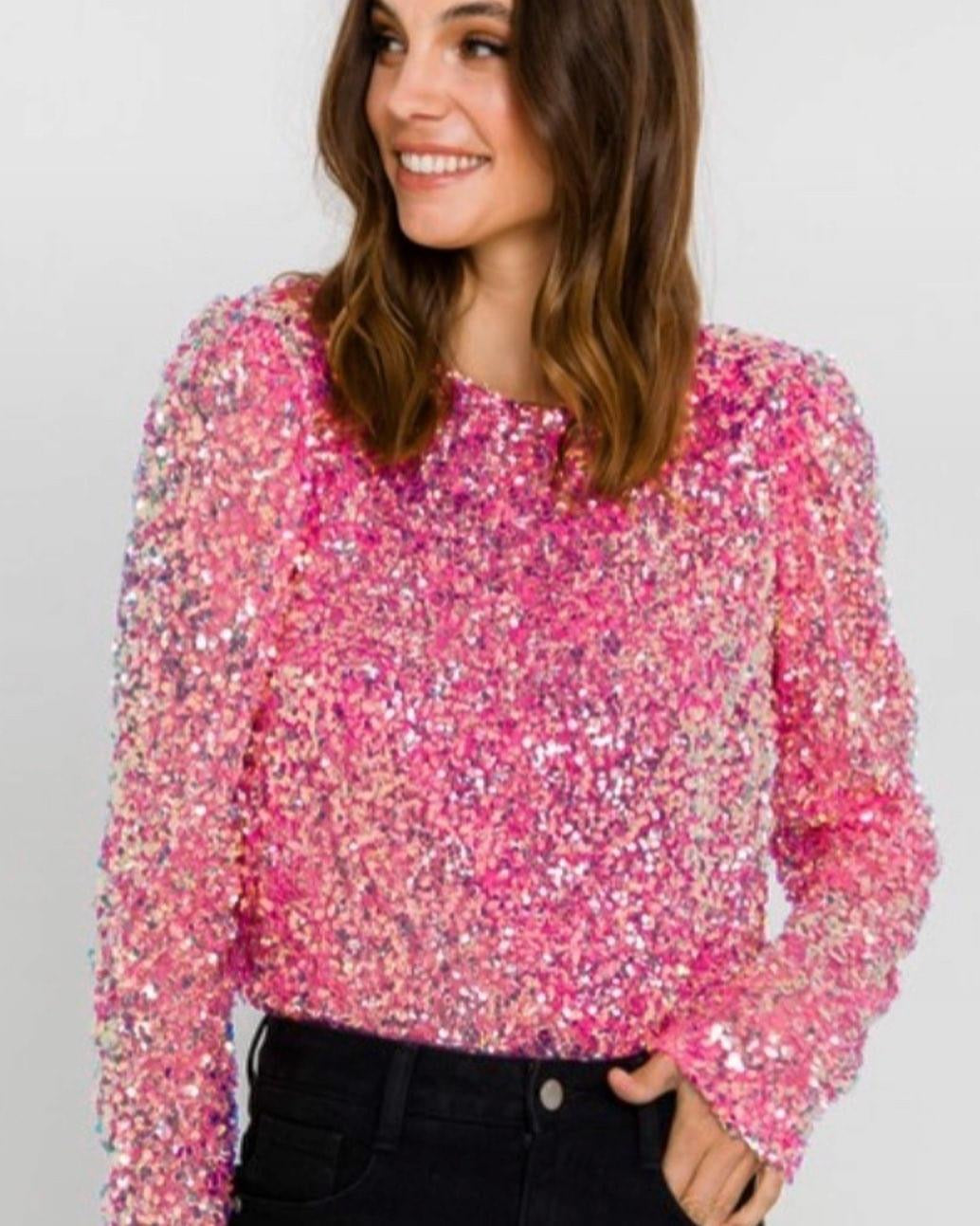 Pink with Gold Sequins